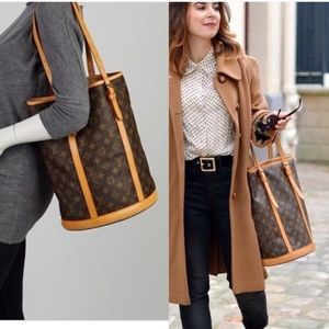❤️Louis Vuitton large bucket GM and pouch